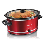 8qt Oval Slow Cooker Red Product Image