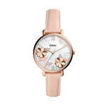 Ladies Jacqueline Blush Leather Strap Watch Floral Dial Product Image