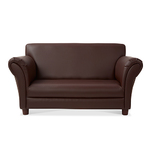 Childrens Faux Leather Sofa  Coffee Ages 3+ Years Product Image