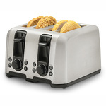4-Slice Stainless Steel Toaster w/ Extra Wide Slots Product Image
