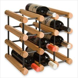 Wooden Modular Wine Rack 12-Bottle - Oak Product Image