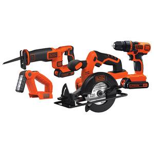 20V Max DIY 4 Tool Kit - Drill/Driver Circ Saw Recip Saw Work Light Product Image