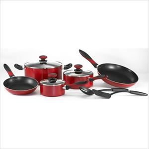 Mirro Get-A-Grip 10-Piece Cookware Set - Red Product Image