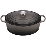 6.75qt Signature Cast Iron Oval Dutch Oven Oyster Product Image