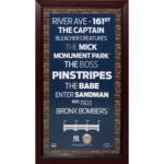 Framed New York Yankees Subway Sign Wall Art 16x32 with Authentic Dirt (MLB Authenticated) Product Image
