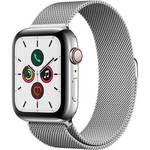 Watch Series 5 (GPS + Cell, 44mm, Stainless Steel, Stainless Steel Milanese Loop) Product Image