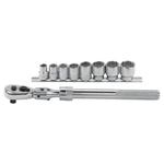 "Extendable 3/8"" Drive Ratchet Plus 8 SAE Sockets Product Image"