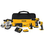 20V MAX Cordless 4-Tool Combo Kit - Drill/Driver Recip Saw Circ Saw Light Product Image