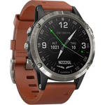 D2 Delta Aviator Watch (47mm, Brown Leather Band) Product Image