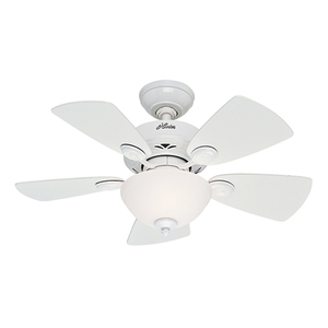 """Classic Watson 34"""" Ceiling Fan White Product Image"""