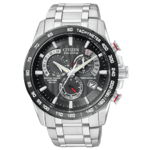 Citizen Eco-Drive Perpetual Chrono A-T Men's Silver-Tone Watch