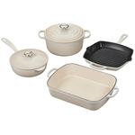 6pc Signature Cast Iron Cookware Set Meringue Product Image