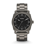 Mens Machine Smoke Stainless Steel Watch Black Dial Product Image