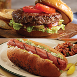 Twelve 4.5oz Classic Steakburgers & Twelve 3.2oz Beef Hotdogs Product Image