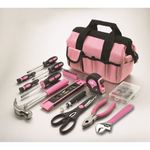76-Piece Home Repair Tool Set - Pink Product Image