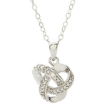 Diamond Love Knot Necklace Product Image