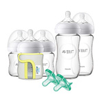 Natural Glass Newborn Baby Starter Bottle Set Product Image