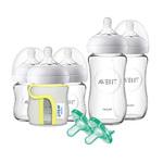 Natural Glass Newborn Baby Starter Bottle Set