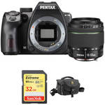 K-70 DSLR Camera with 18-55mm Lens and Accessory Kit (Black) Product Image