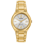 Ladies Corporate Exclusive Eco-Drive Gold Stainless Steel Watch Gold Dial Product Image