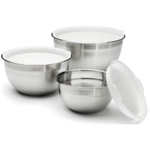 Cuisinart Stainless Steel Mixing Bowls with Lids - Set of 3 Product Image