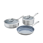 Spirit 3-Ply 5pc Stainless Steel Ceramic Nonstick Cookware Set Product Image