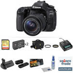 EOS 80D DSLR Camera with 18-55mm Lens Deluxe Kit Product Image