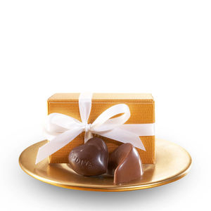 GODIVA 2 Piece Gold Party Favors w/White Ribbon Product Image