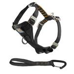 Enhanced Strength Tru-Fit Dog Harness w/ Tether Black - X Small