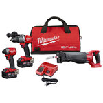 M18 FUEL 3-Tool Kit - Hammer Drill Impact Driver Recip Saw Product Image