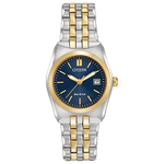 Womens Corso Eco-Drive Two-Tone Watch Blue Dial Product Image