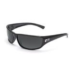Python Shiny Black Sunglasses w/Polarized TNS Lenses Product Image