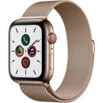Watch Series 5 (GPS + Cell, 44mm, Gold Stainless Steel, Gold Milanese Loop) Product Image