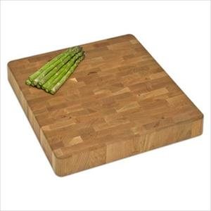 "Chunk End-Grain Cutting Board 16""x16""x2.5"" - Cherry Product Image"