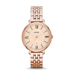 Ladies Jacqueline Rose-Tone Stainless Steel Watch Product Image