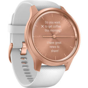 vivomove Style Hybrid Smartwatch (42mm, Rose Gold Aluminum Case, Silicone Band) Product Image