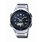 Ana/Digi Solar Powered Watch Stainless Steel Band Product Image