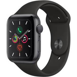 Watch Series 5 (GPS Only, 44mm, Space Gray Aluminum, Black Sport Band) Product Image