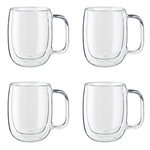 Sorrento 4pc Double Wall Glass Coffee Mug Set Product Image