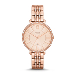 Ladies Jacqueline Rose Gold Crystal Watch Rose Gold Dial Product Image