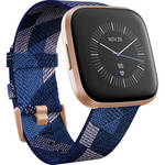 Versa 2 Special Edition Health & Fitness Smartwatch (Navy & Pink Woven / Copper Rose Aluminum) Product Image
