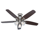 "Builder Plus 52"" Ceiling Fan Brushed Nickel Product Image"