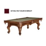 Brunswick Sutton II 8-Foot Billiards Table - Merlot Product Image