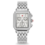 Ladies Signature Deco Silver-Tone Watch Mother of Pearl Dial Product Image