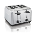 Brushed Stainless Steel 4-Slice Toaster w/ Extra Wide Slots Product Image