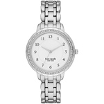 Ladies Morningside Scallop Crystal Stainless Steel Watch White Dial Product Image
