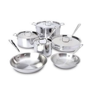 D3 Stainless Steel 10-Piece Cookware Set Product Image