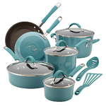 Cucina 12pc Hard Enamel Nonstick Cookware Agave Blue Product Image