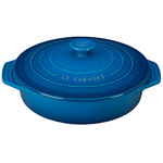 2.1qt Stoneware Covered Round Casserole Marseille Product Image