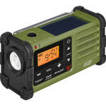 SG-112 AM/FM/Weather Rugged Portable Radio with Hand Crank & Solar Panel (Green)